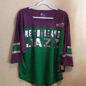 GIII for her NBA New Orleans Jazz Women mesh top